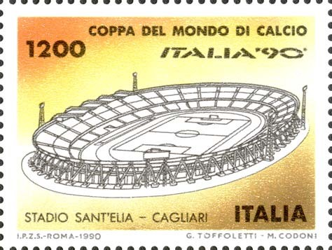 francobollo italia 90